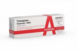Гепарин-Акрихин 1000, гель д/наружн. прим. 1 тыс.ME/г 50 г №1